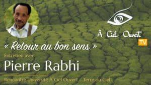 Retour au bon sens – Pierre Rabhi