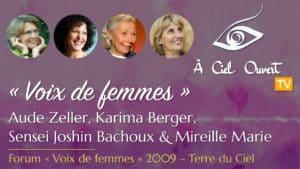 Voix de femmes – Aude Zeller, Karima Berger, Sensei Joshin Bachoux & Mireille Marie